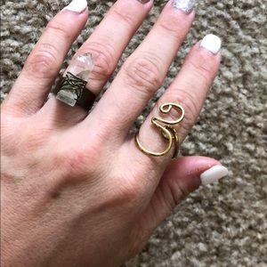 Boho Wire Wrap Ring Set